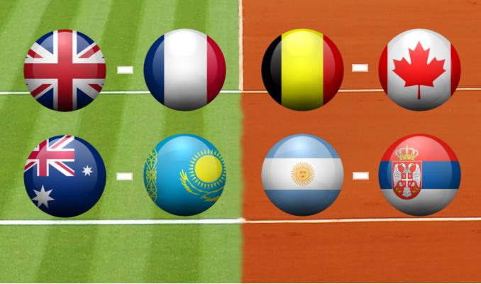 Les résultats du week-end (quarts de finale de la Coupe Davis)