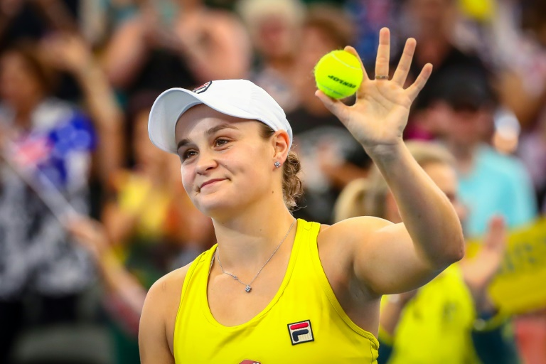 Barty beats Sabalenka to put Australia in charge of Fed Cup semi