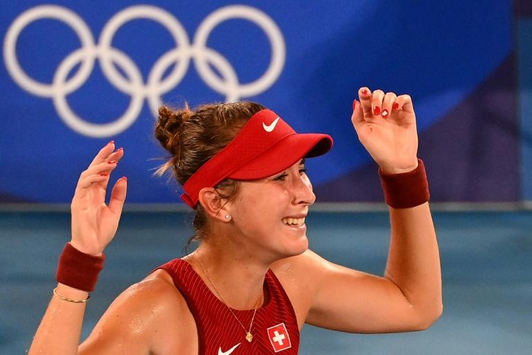 Switzerland's Bencic beats Vondrousova to win Olympic tennis title