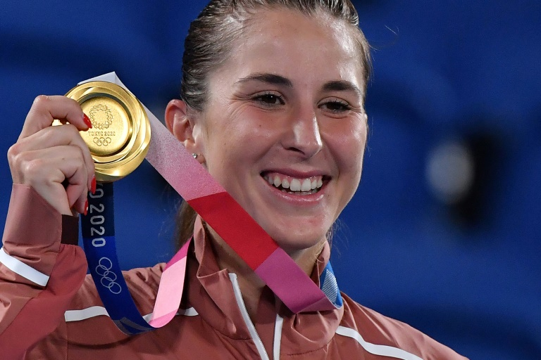Bencic wins Olympic women's title as angry Djokovic misses medal