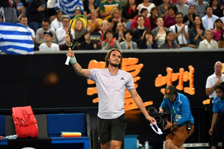 'Mature' Tsitsipas almost perfect en route to Open second round