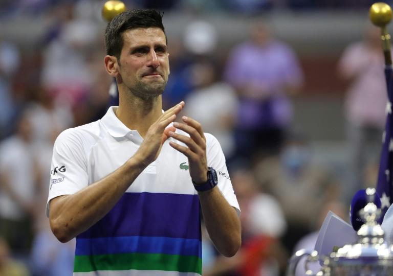 Tearful Djokovic copes with Slam heartbreak, crowd love