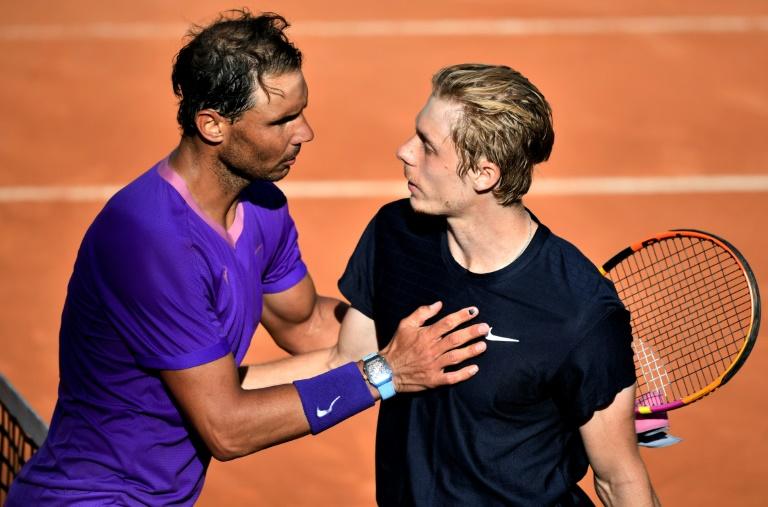Rome: Nadal qualifié de justesse pour les quarts aux dépens de Shapovalov