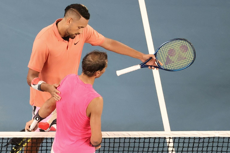 Nadal praises Kyrgios after weathering storm to make Open quarters