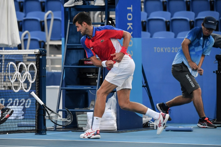 Angry Djokovic loses to Carreno Busta in Olympics bronze-medal match