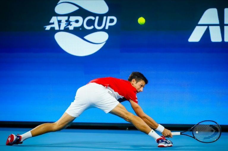Djokovic sees off Anderson to give Serbia opening ATP Cup win