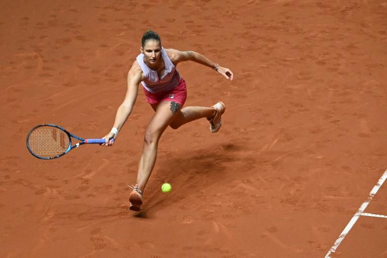Ex-Rome winner Pliskova saves three match points to reach final four